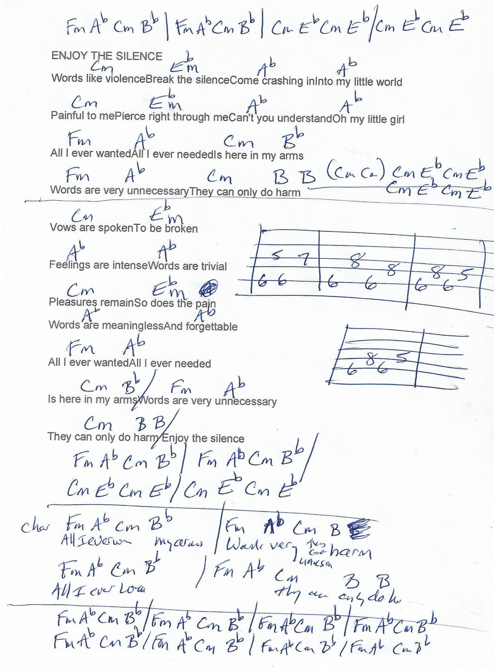 Enjoy the silence depeche mode guitar chord chart cm minor enjoy the silence depeche mode guitar chord chart cm minor real key hexwebz Images