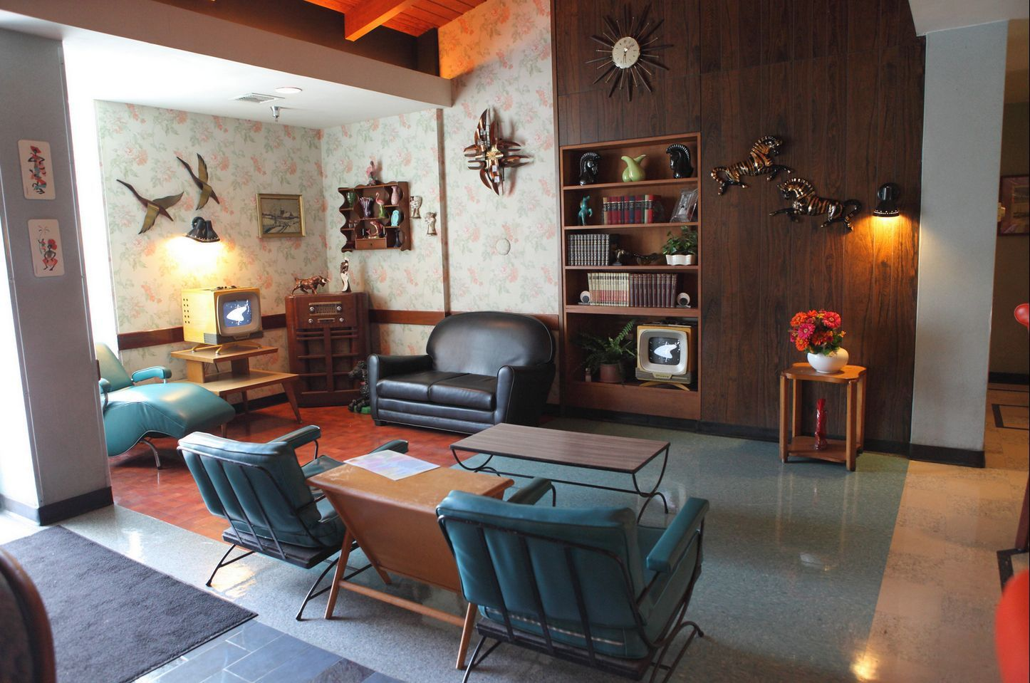 mid century modern living room elements in one picture mid
