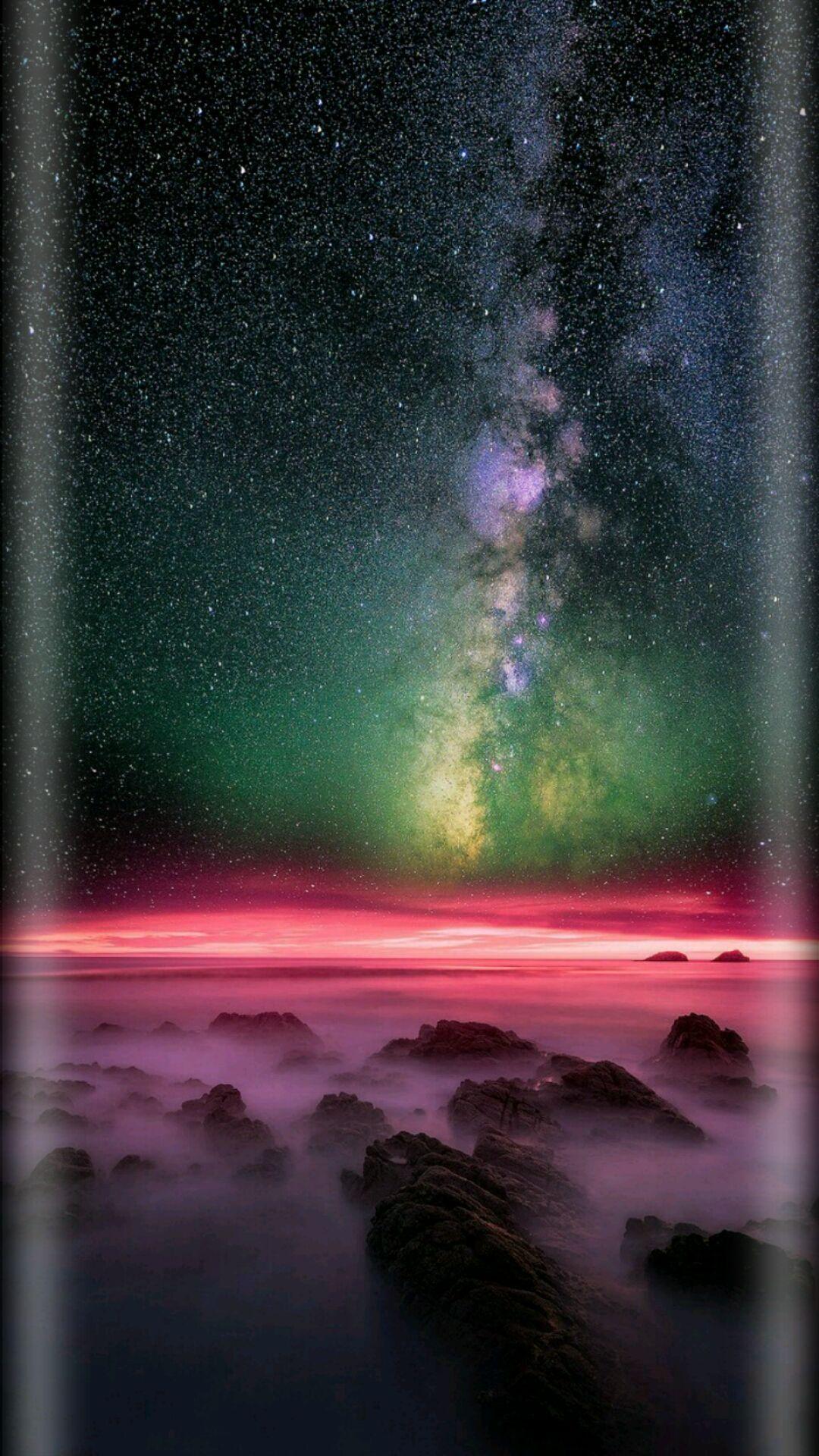 Starry Sky Iphone Wallpaper Sky Iphone Background Backgrounds Desktop