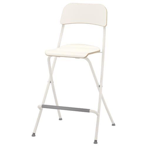 Franklin Chaise De Bar Pliante Blanc Blanc 63 Cm Ikea Tabouret De Bar Tabouret Pliant Chaise Bar