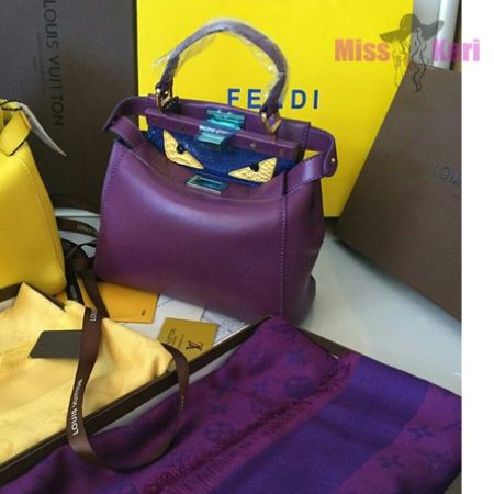 7d2fe22daae0 Сумка Fendi Monster Eyes Peekaboo purple mini красная купить в  Днепропетровск…