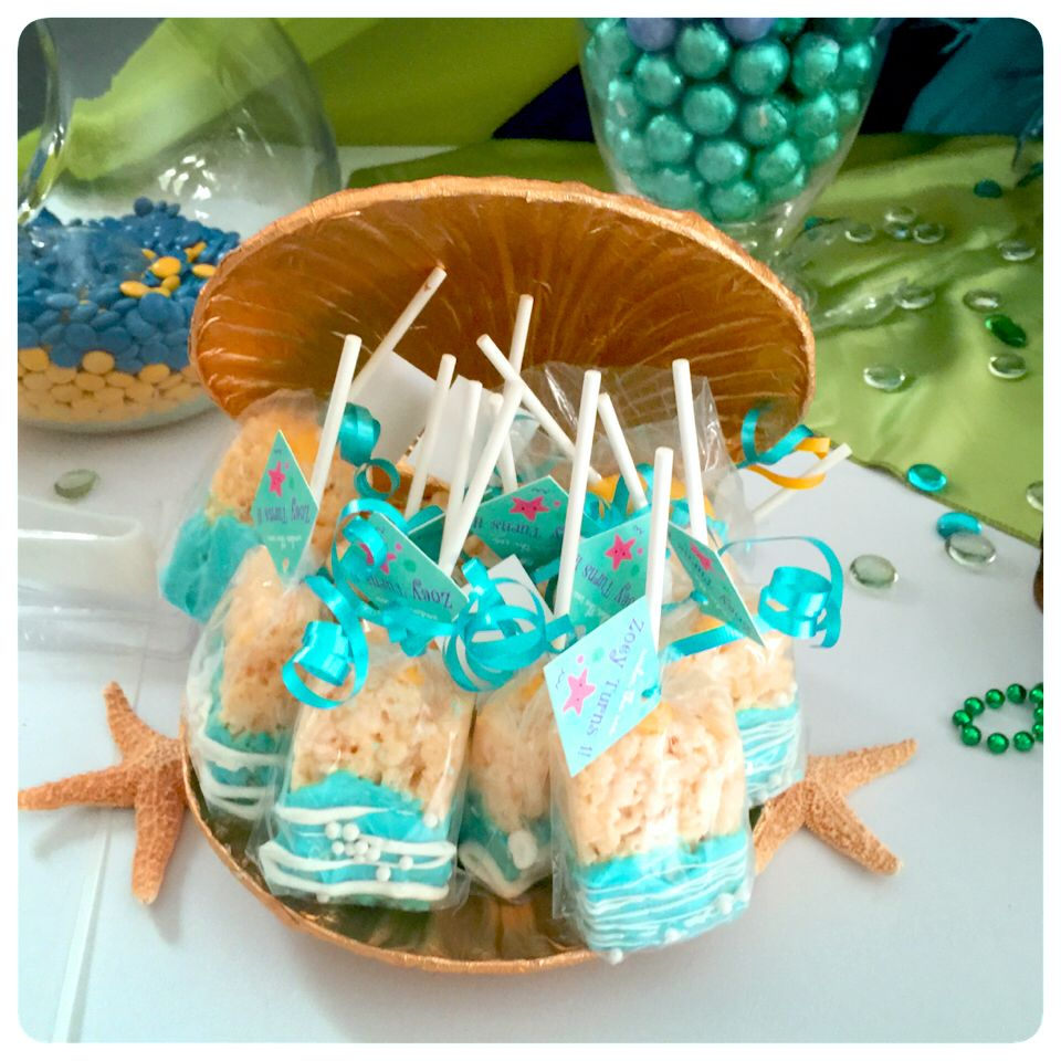 Under The Sea Little Mermaid Rice Crispy Treats