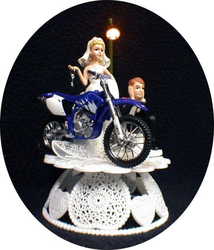 Track Dirt Bike Motorcycle Wedding Cake Topper YAMAHA