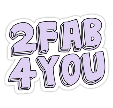2 fab 4 you stickers by alexlidster redbubble