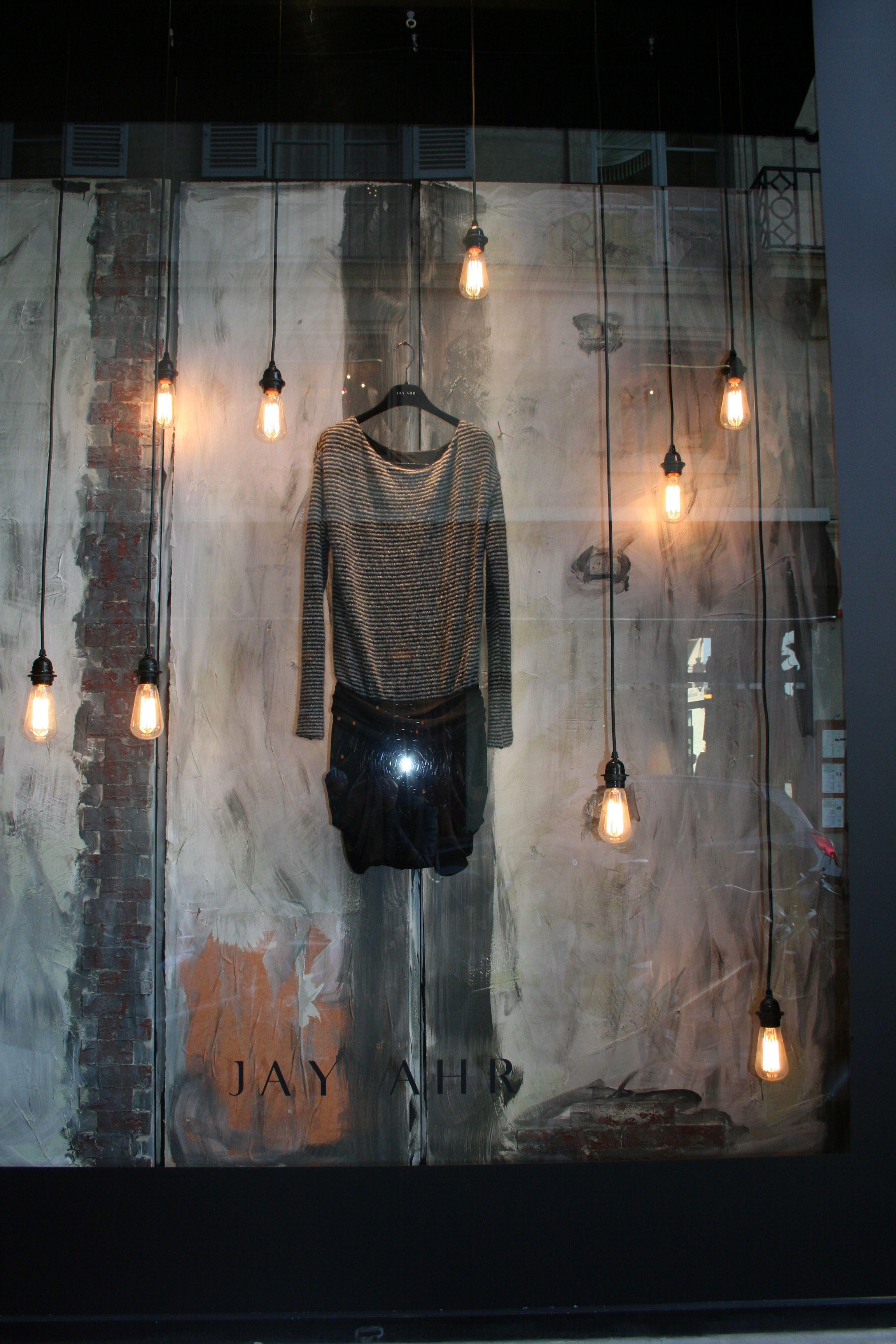 lighting store shop window displays