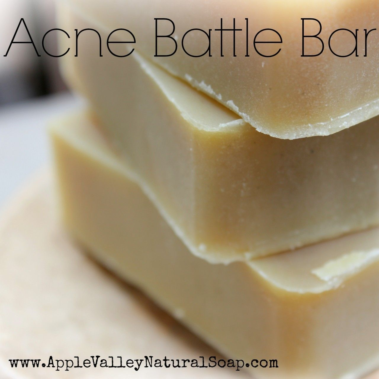 Acne Battle Face and Body Bar Homemade soap recipes