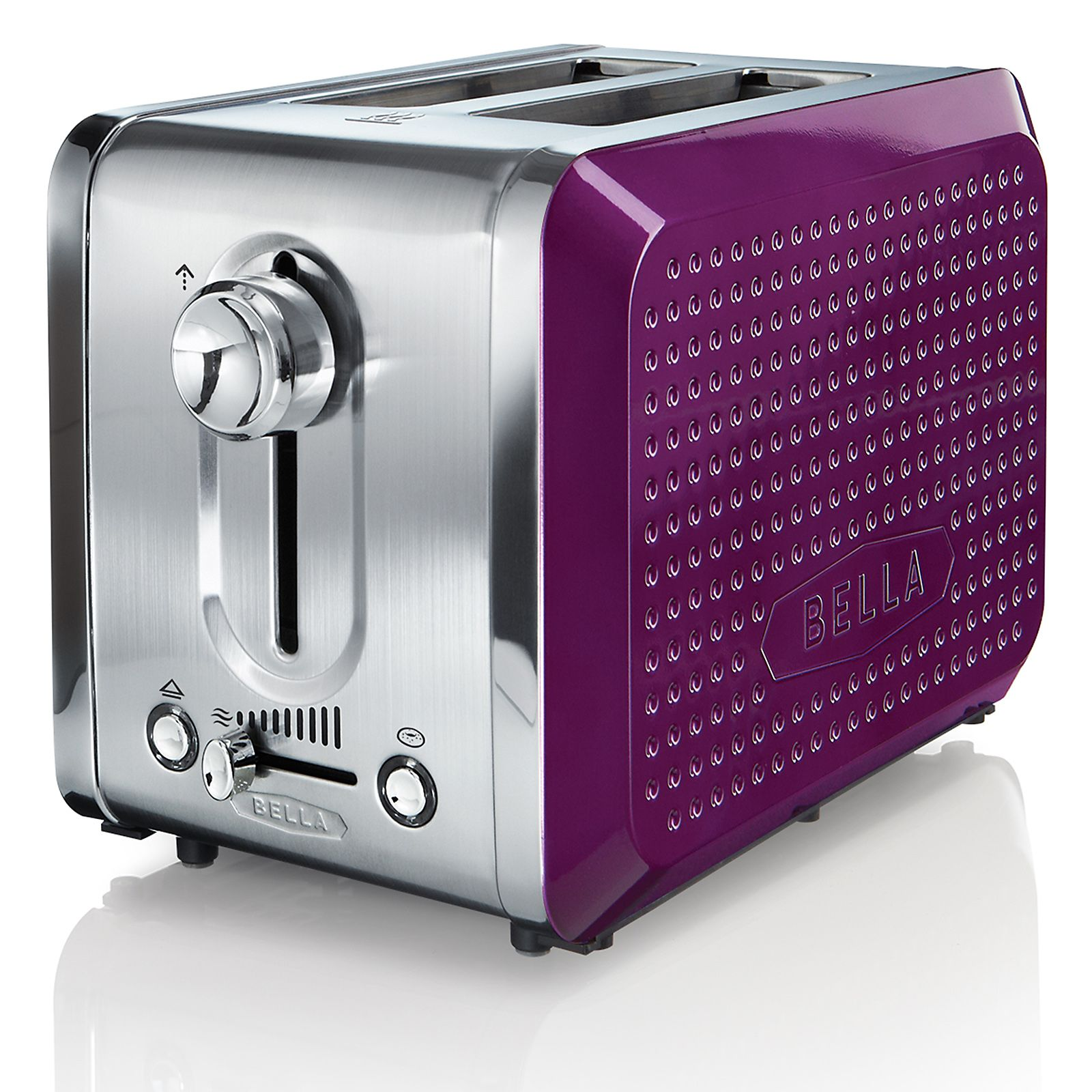 2499 Bella Dots 2 Slice Toaster Purple