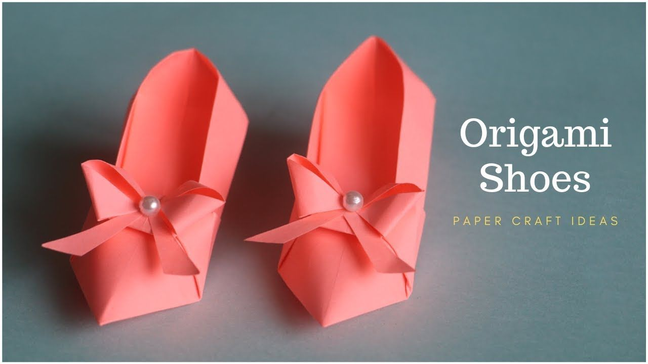 Origami Shoes Diy Tutorial Paper Craft Paper Folding Crafts Shoe Making With Paper Youtube Paper Folding Crafts Paper Crafts Paper Shoes
