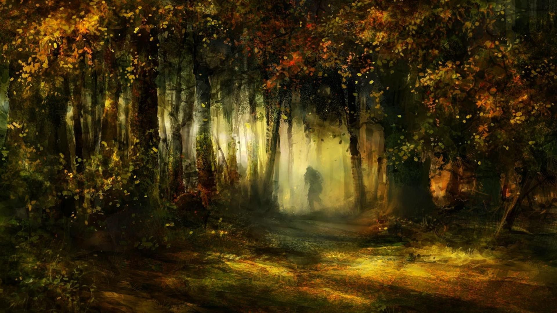 Nature Forest Tree Awesome Art Wallpaper1920x1080 Via Classy Bro