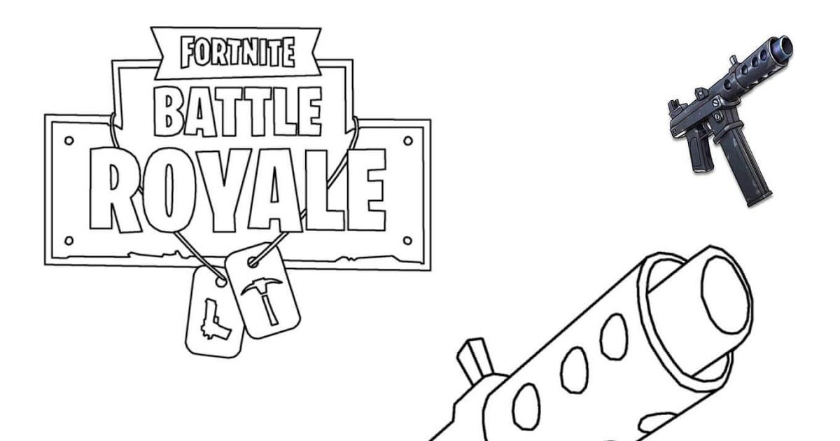 Battle Royale Fortnite Guns Coloring Pages In 2020 Cool Coloring Pages Printable Coloring Pages Coloring Pages