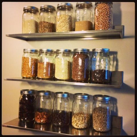 Healthy Fit Goddess Mason Jar Reorganization 2 0 Mason Jar Kitchen Mason Jars Jar