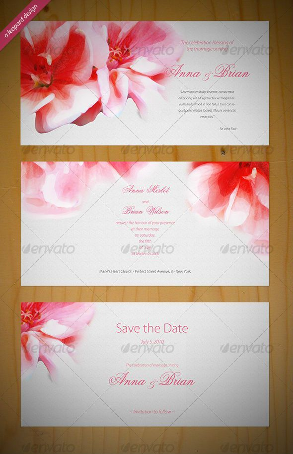 65+ Best Wedding Invitation Templates - PSD & InDesign | Invitation ...