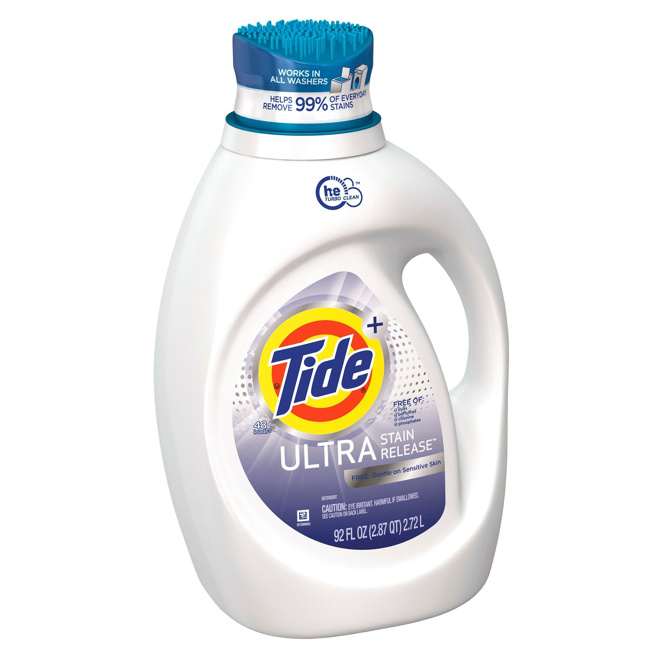 Tide Ultra Stain Release Free Liquid Laundry Detergent 92 Fl Oz