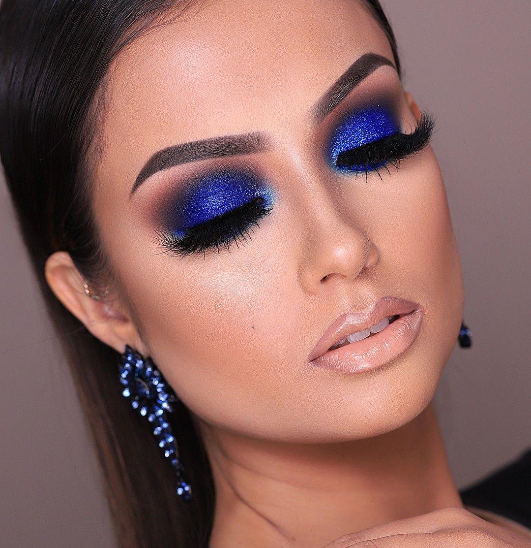 макияж синего цвета фото таджикистане очень