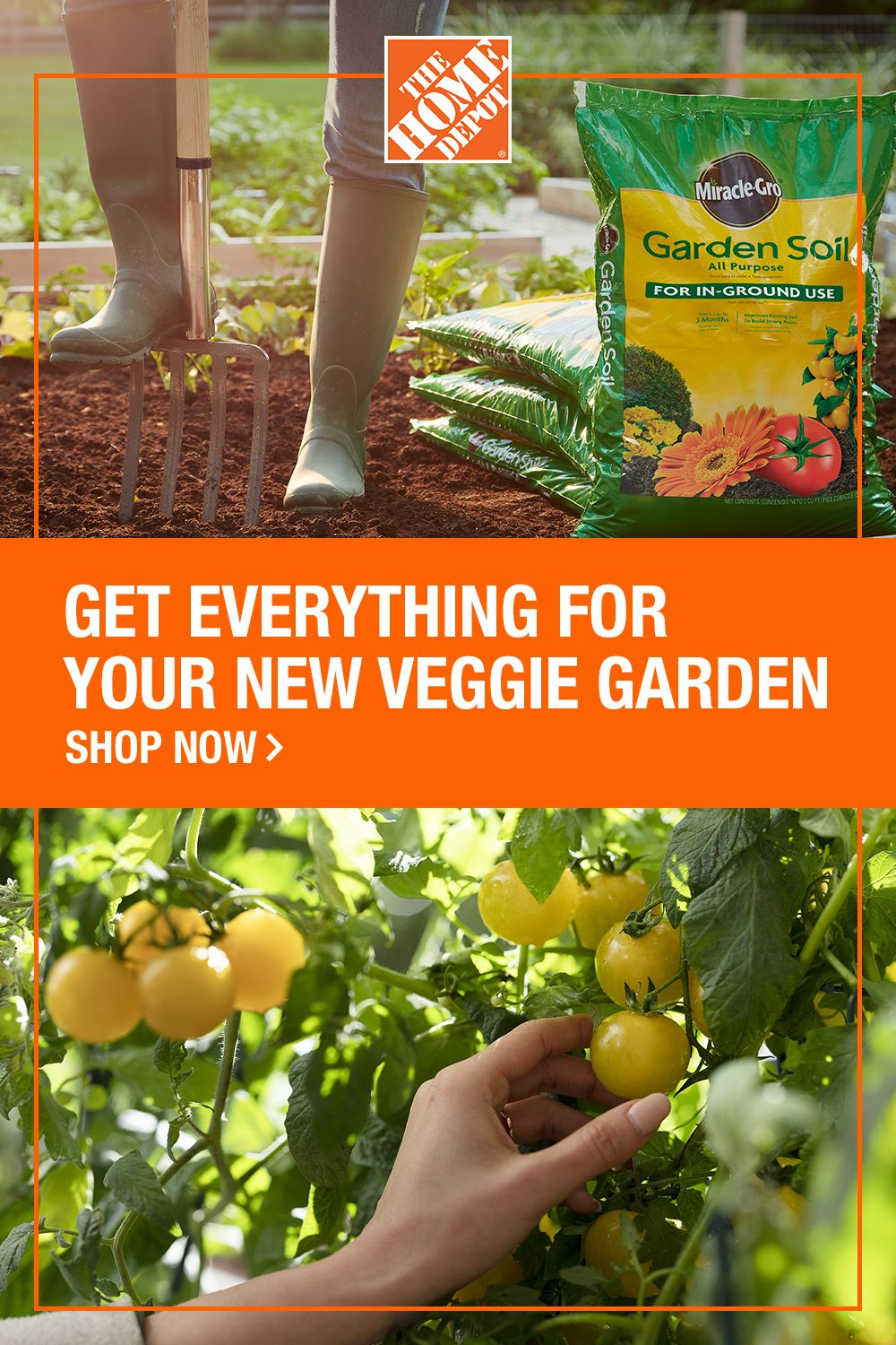 Vegetable gardens need nutrientrich soil and food. That's