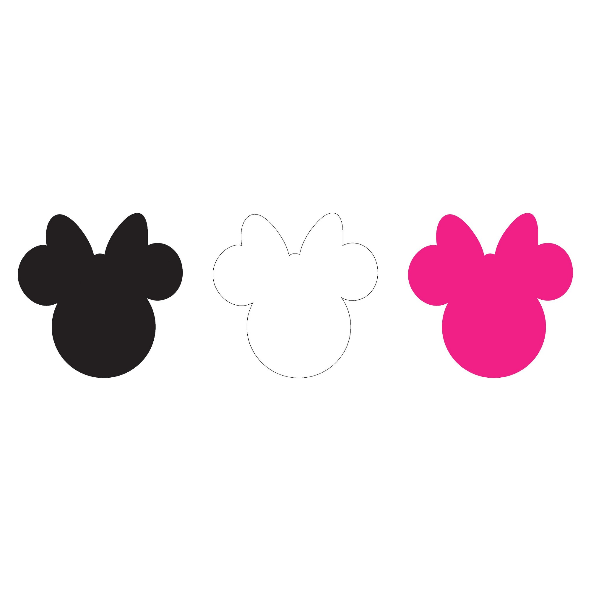 Disney Minnie Ears Large, Multi, Adhesive Felt, Pack of 6