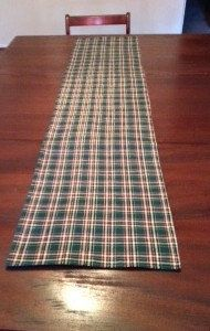 Green plaid table runner ready to ship by KristinesKreationsLC