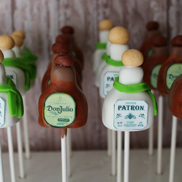 Don Julio Amp Patron Tequila Cake Pops Cake Pops Decorated