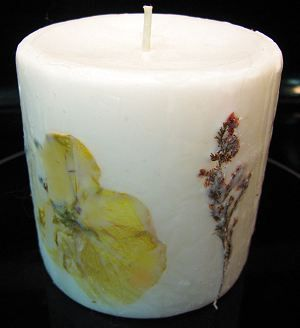 How to Decorate a Candle with Pressed Flowers and Dried Herbs | Naturally Educational