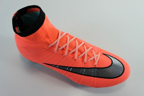 c25d68bfcde0 SR4U Light Coral Glow in the Dark Soccer Replacement Laces on Nike  Mercurial Superfly 4