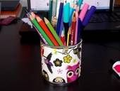 Fabric Covered Pencil Holder