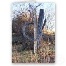 Barbed wire, or as we called it, \