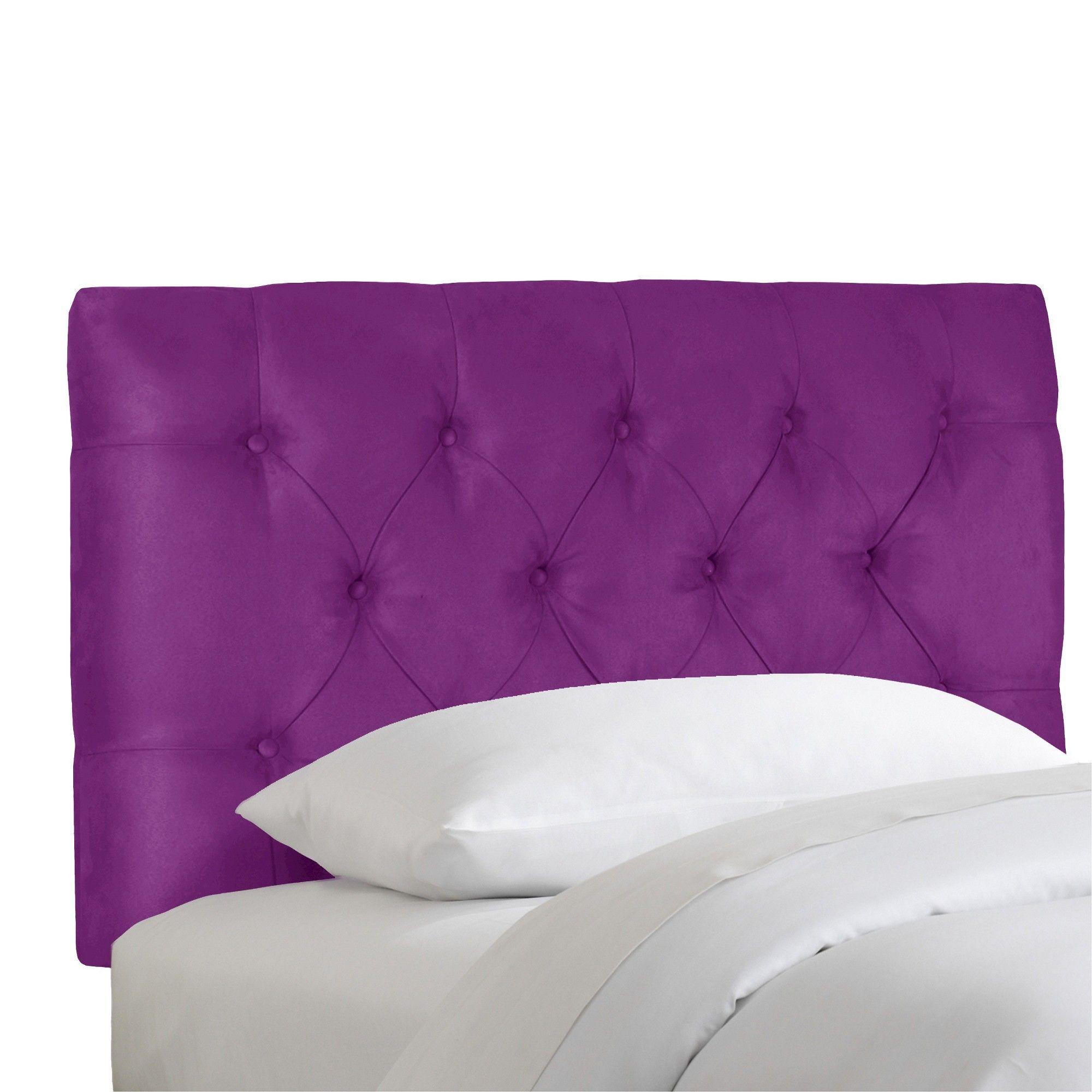 Full Kids Tufted Headboard Purple Pillowfort In 2019 Tufted Headboard Queen Headboard With Lights Twin Headboard