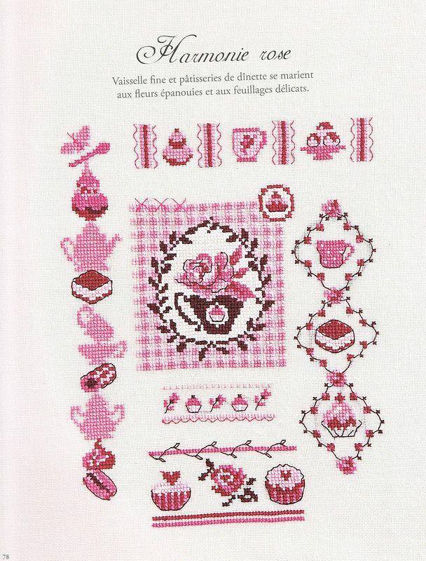 Harmonie De Fleurs Cross Stitch Chart Cross-Stitch Arts, Crafts ...