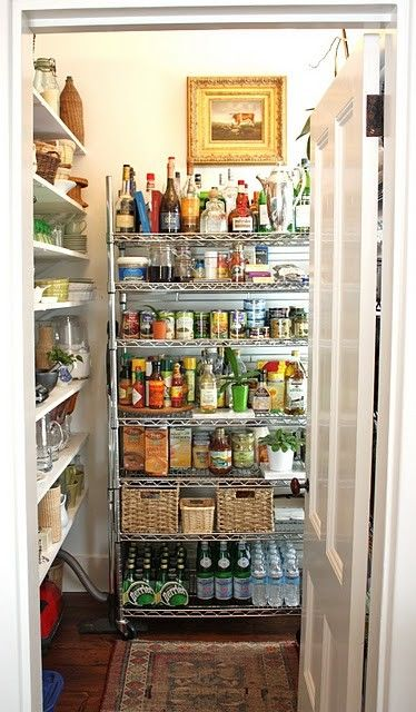 organized closet pantry I actually have a pantry that
