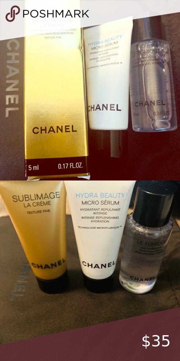 Chanel Sublimage La Crème Micro Sérum Le Tonique Chanel Hydra Beauty Chanel Sublimage La Creme Chanel Sublimage