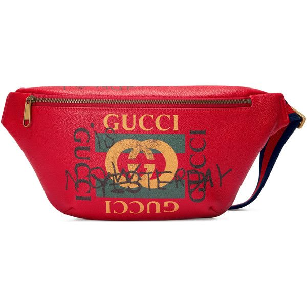 22fa59ef9b0939 Gucci Coco Capitán Logo Belt Bag ($1,250) ❤ liked on Polyvore featuring red