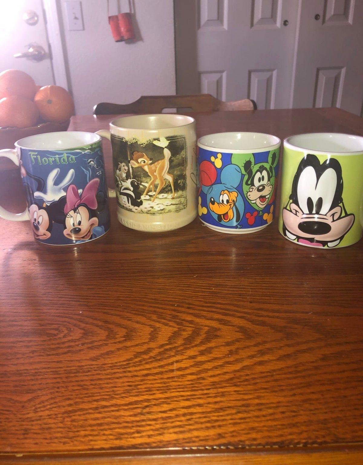bundle of disney coffee mugs