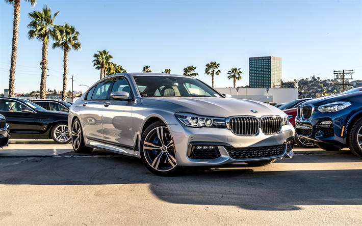 Download Wallpapers BMW 7 Series 2018 4k 740i Sedan G11 Luxury