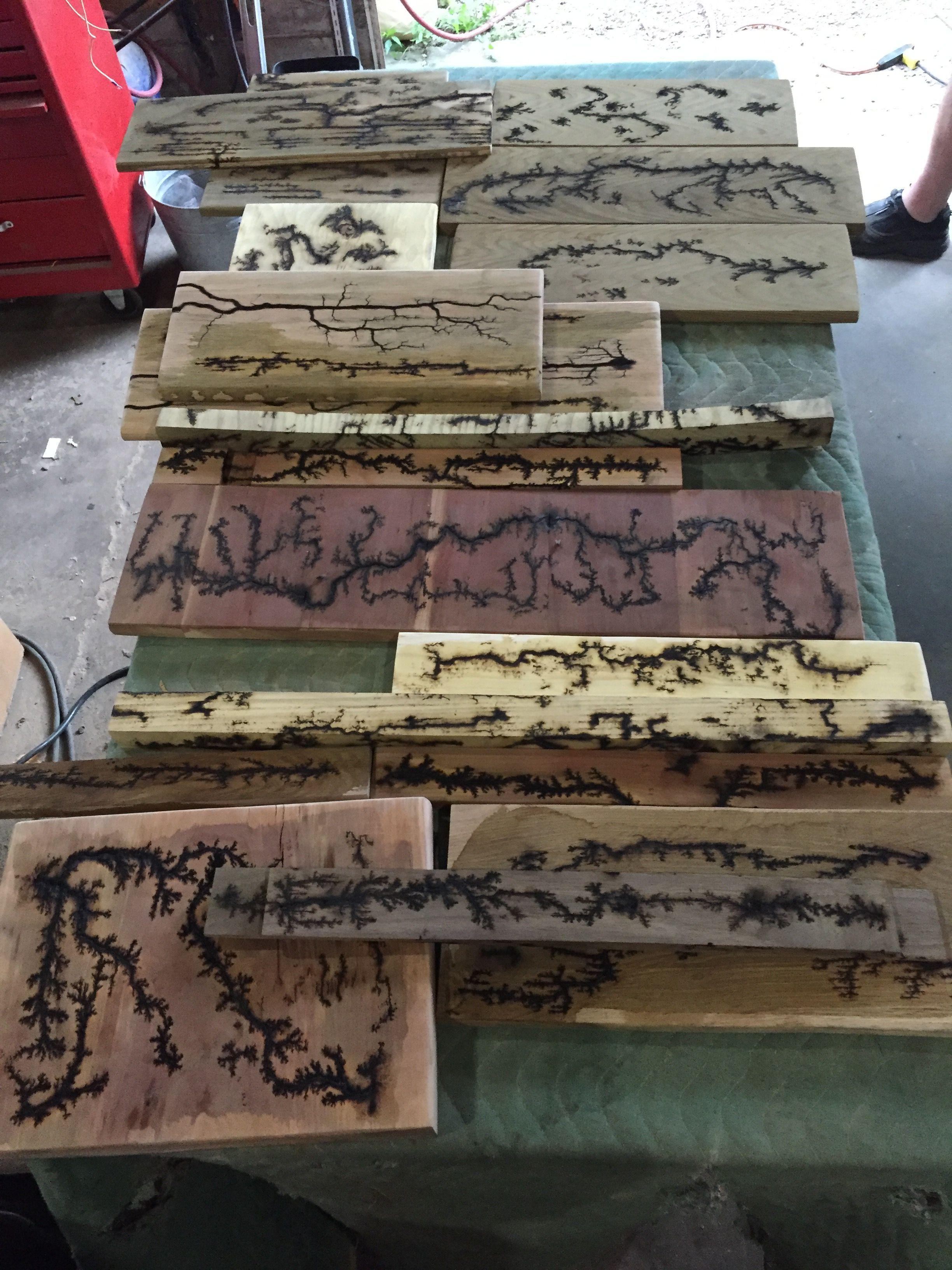 Trying Fractal Burning On Multiple Wood Types Wood