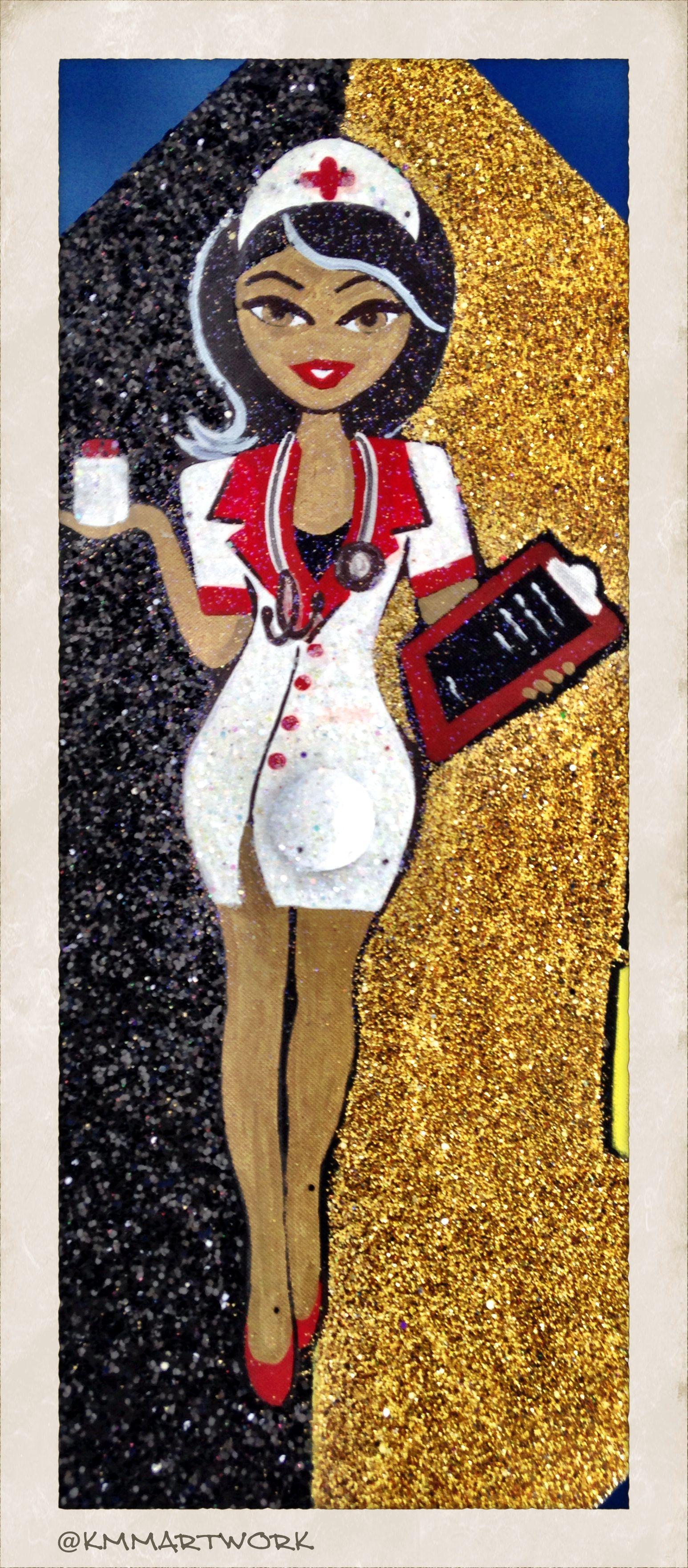 Glitter Art - Nurse Graduation Cap - BSN #kmmartwork