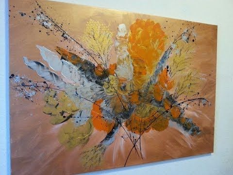 Malen Mit Acrylfarben Abstrakt Mit Spachtel Easy Painting