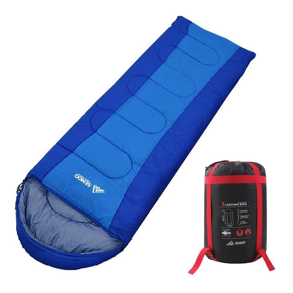 with Compression Bag Semoo Waterproof 3 Season Camping Envelope Sleeping Bag for Adults /& Children