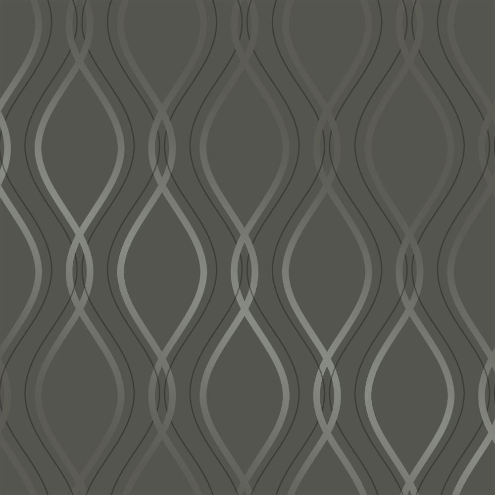 Tempaper Tear Drop Charcoal And Metallic Silver Self Adhesive Removable Wallpaper Im468 The Home Depot Removable Wallpaper Contemporary Home Decor Modern Wallpaper