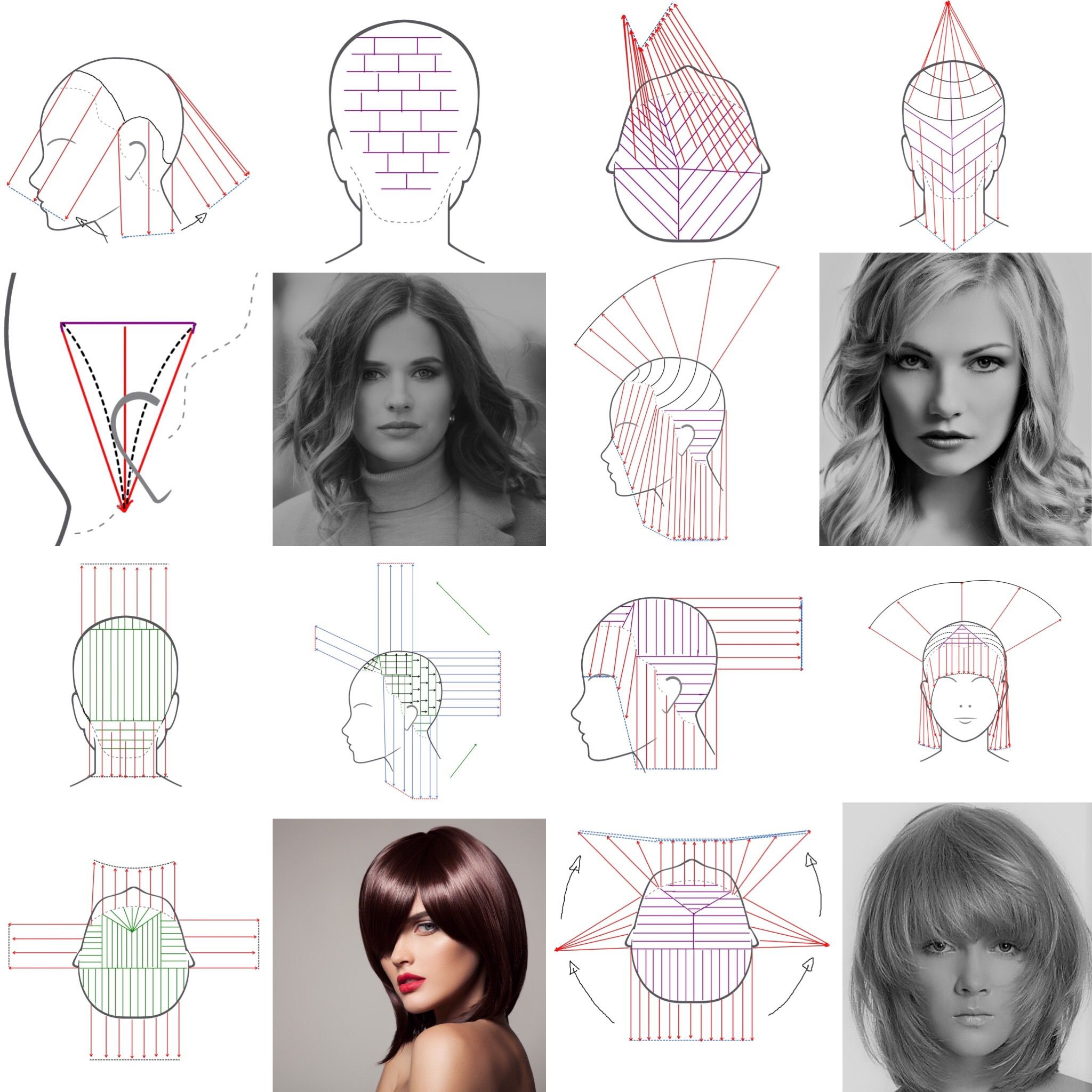 Advanced Layers Haircuts Haarschneidetechniken Stufenhaarschnitt Haare Selber Schneiden Anleitung