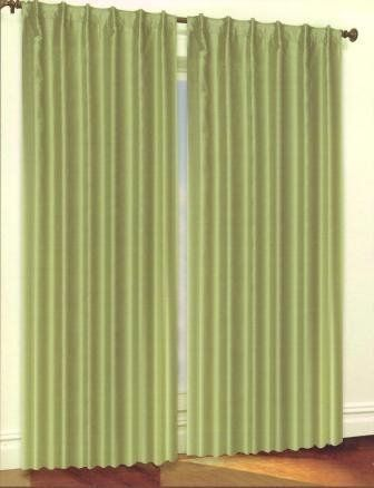 Sage Luxury Lined and Interlined Faux Silk Pole Top Panel- 2 Hanging Options. 55 inches by 84 inches- One Panel per package by Moshells. $14.99. Laboratory test shows these curtains insulate against heat and cold, saving you money & energy.. Keep your home decor under wraps with these thermal, insulated blackout curtains.. Curtains feature innovative fabric construction and Machine washable for easy care.. Luxury Home Textiles introduces a line of Energy Efficient Luxury panels...