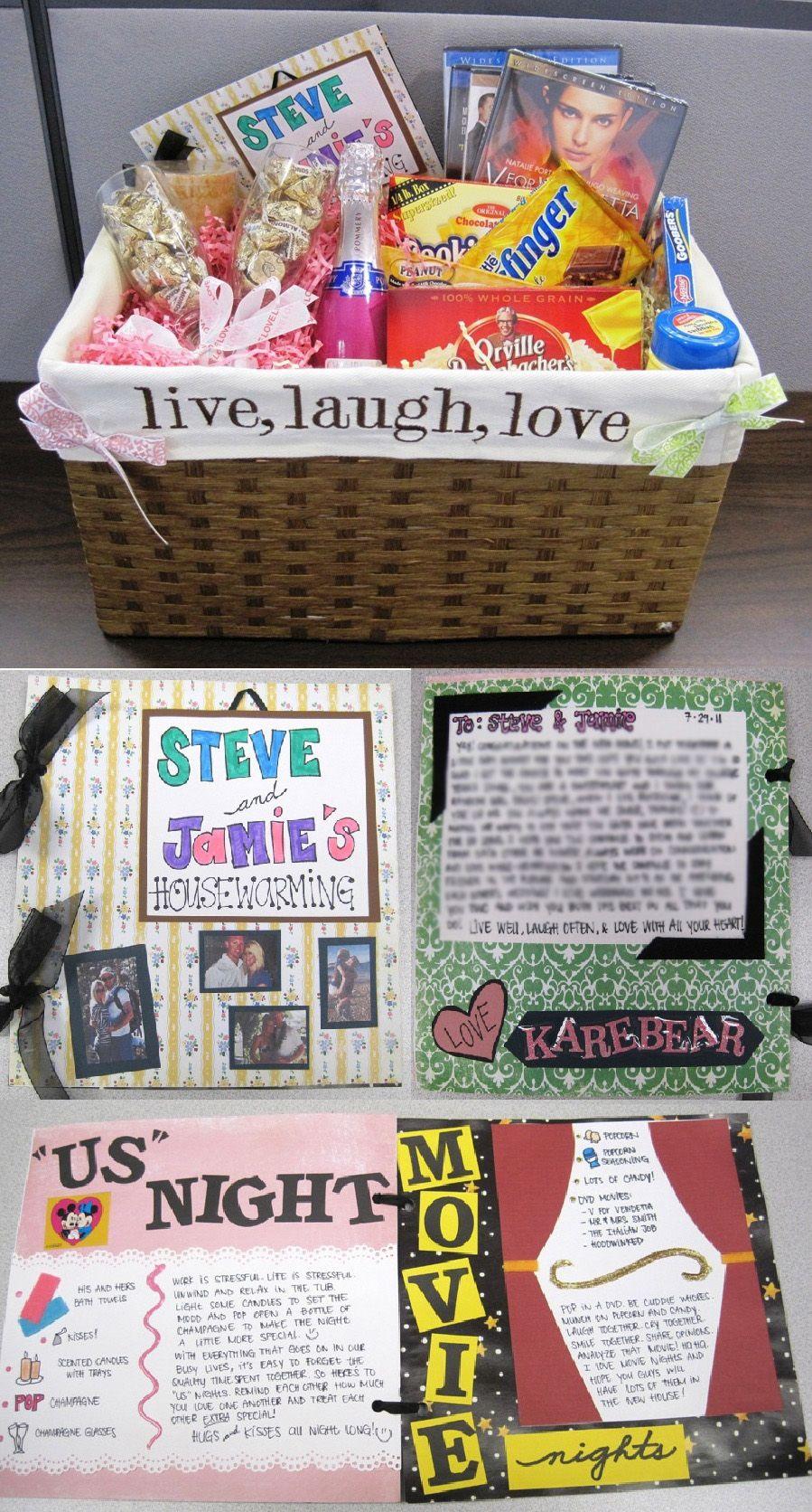 Housewarming basket and card i put together diy gifts for Housewarming gifts for boyfriend