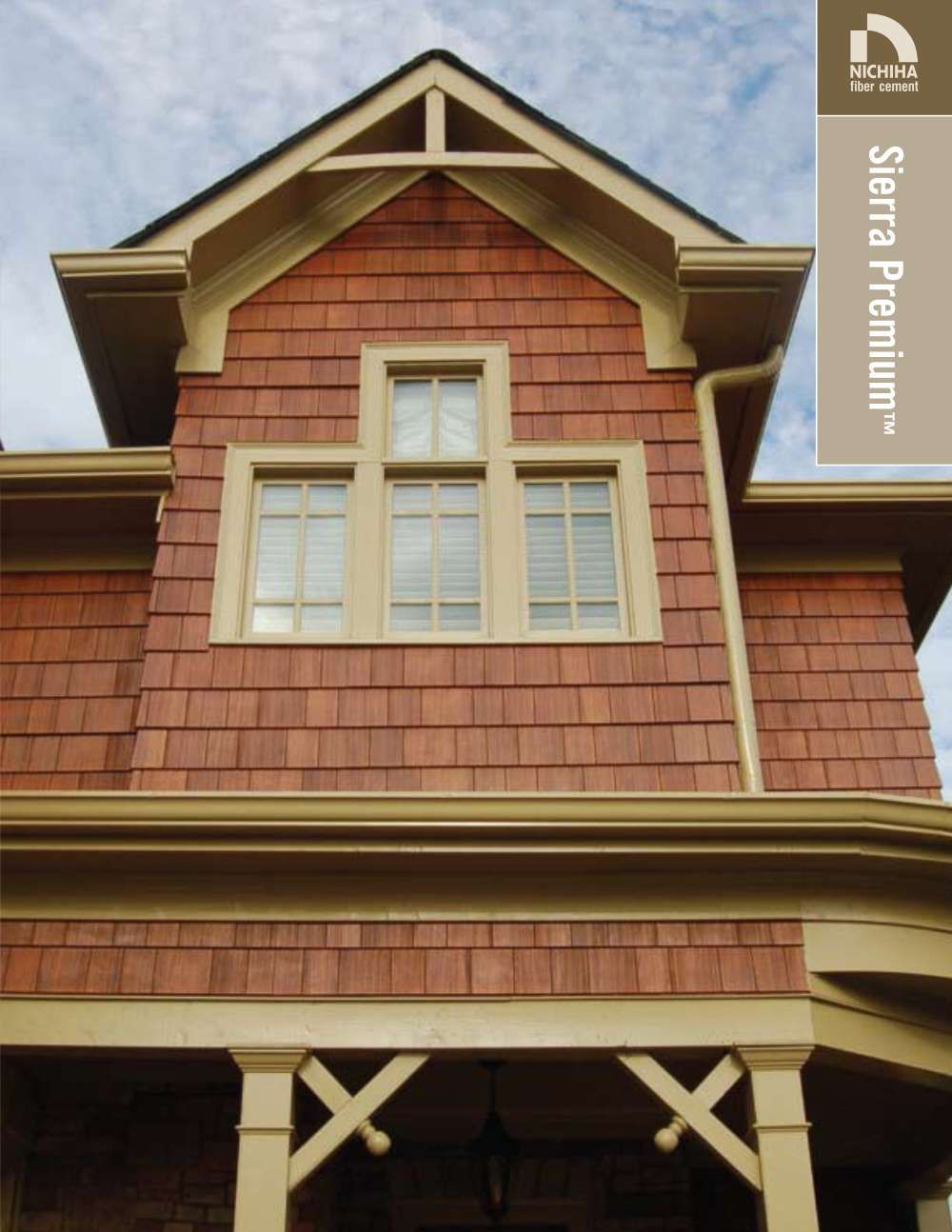 Can You Believe That Is Cement Siding Instead Of Wood What A Great Idea All The Beauty And None O Shingle Siding House Designs Exterior Window Trim Exterior