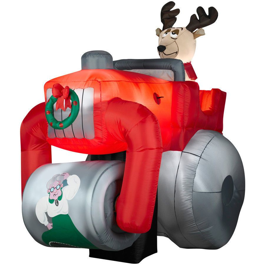 Gemmy inflatable airblown reindeer outdoor christmas decoration lowe - Animated Christmas Inflatables Bing Images