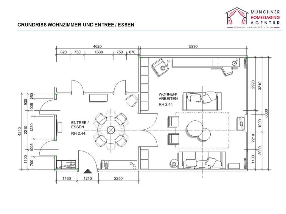 Grundrisse helfen Proportionen von Möbeln im Raum