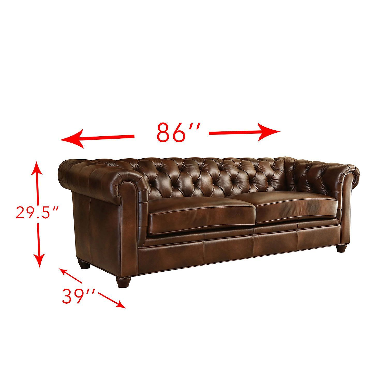 Natali Top Grain Italian Leather Sofa