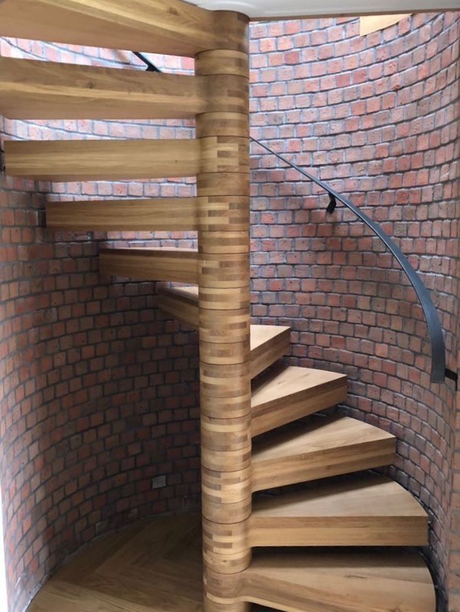 Best Bespoke Floating Spiral Staircase With Steel Treads Clad 400 x 300