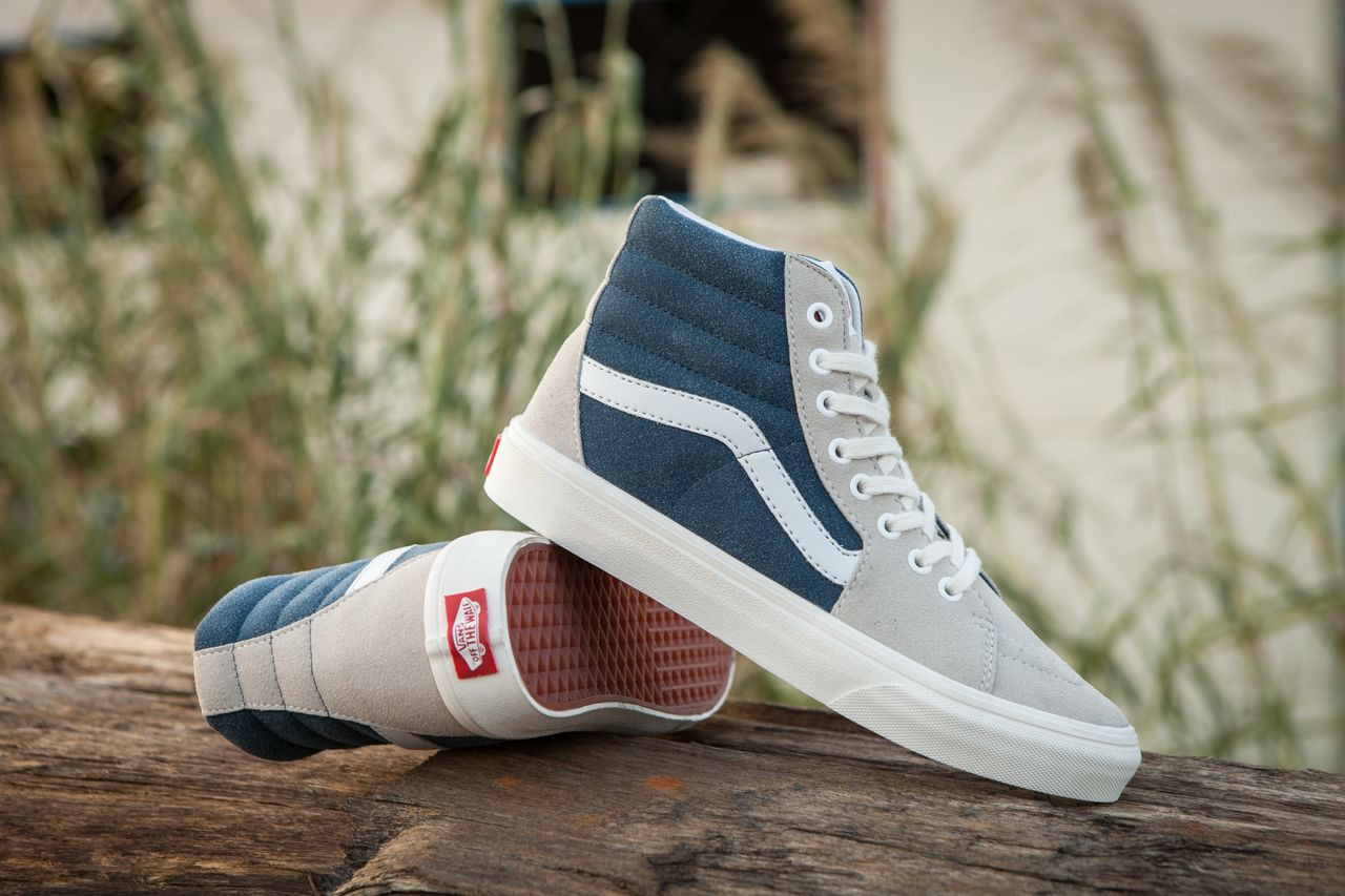 2be77b0f36 Vans SK8 Hi Custom Dark Blue Grey High Top Vans For Sale  Vans ...