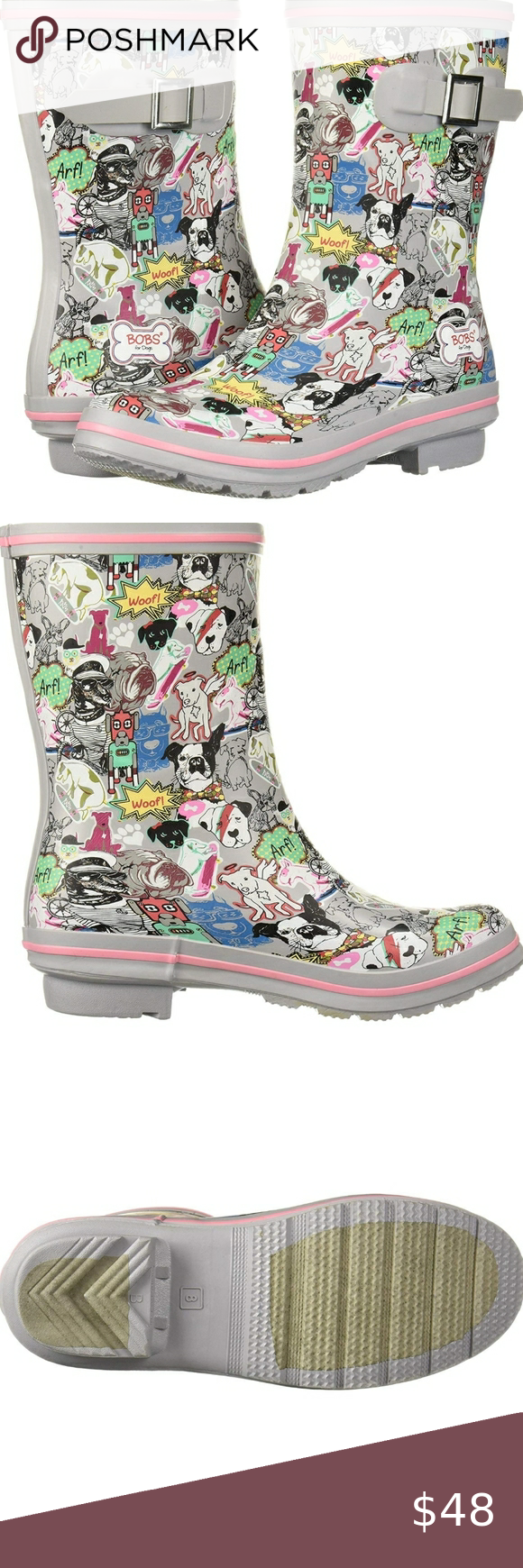 Bobs by skechers rain boots women's