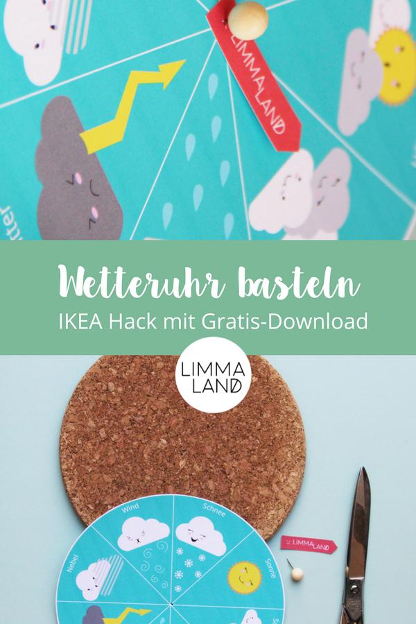 Wetteruhr Basteln Ikea Hack Mit Gratis Download Kinderzimmer