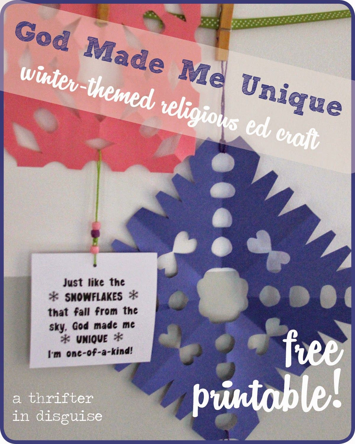 Winter Themed Religious Education Craft